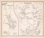 Durham Town, Durham, New Hampshire State Atlas 1892 Uncolored